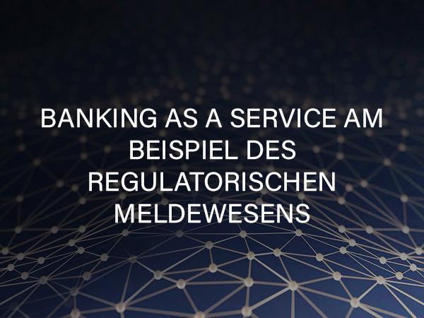 Banking as a Service am Beispiel des regulatorischen Meldewesens