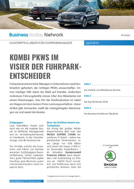 Warum Fuhrpark-Entscheider Kombi-PKWs bevorzugen