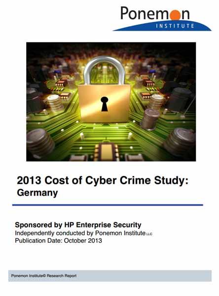 Studie: Ponemon Institute 2013 Cost of Cyber Crime – Deutschland