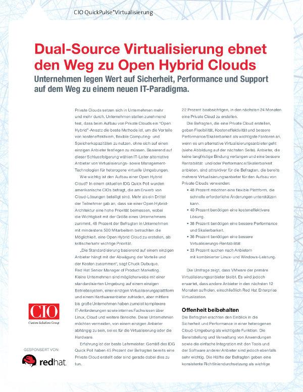 Open Hybrid Clouds für Virtualisierungs-Freiheit